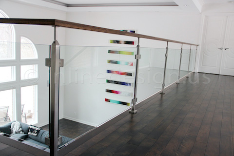 glass railing wall