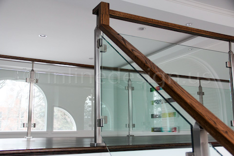 glass railing white