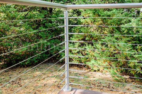 corner railing