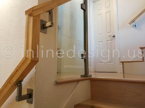 glass railing corner