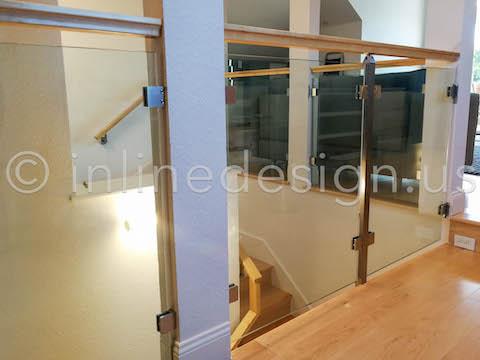 glass railing guardrail