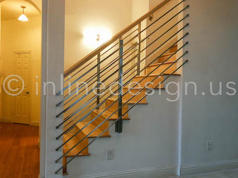seattle bar wood handrail
