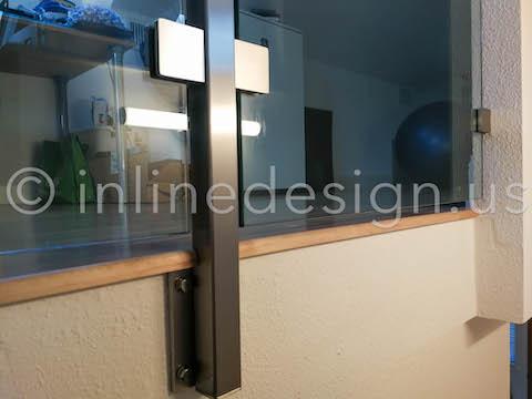 side mount glass railing