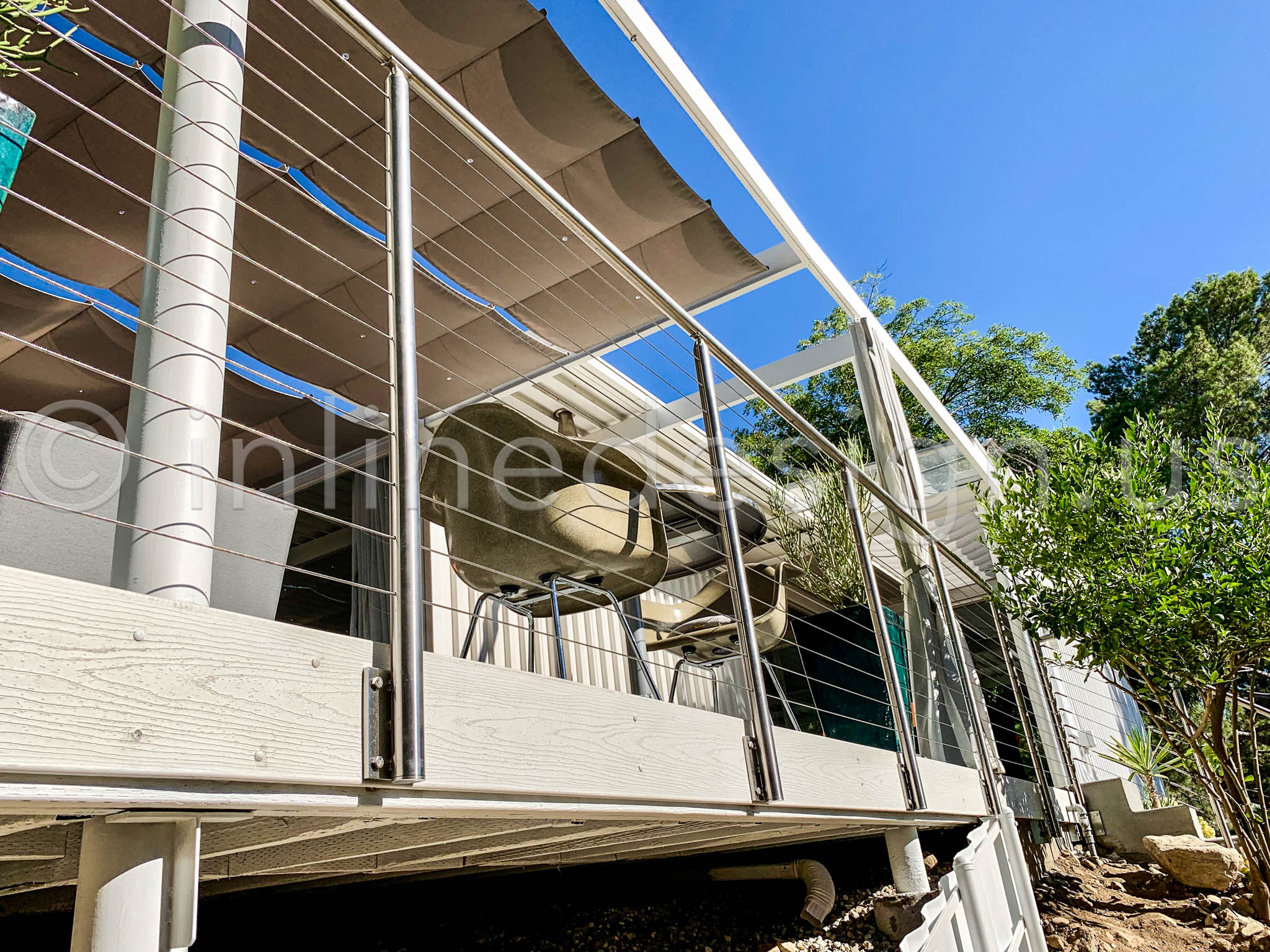 modern railing remodeling