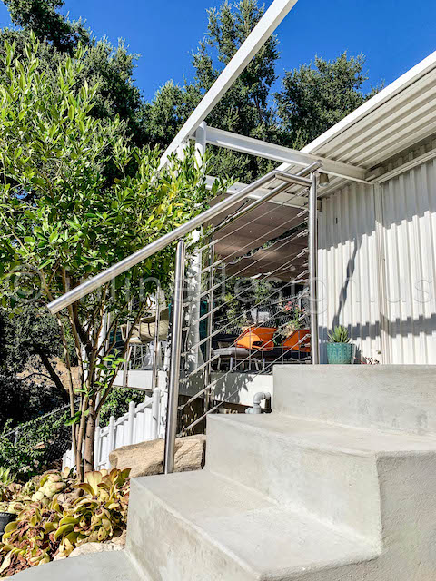 Outdoor Stairs Cable Railing