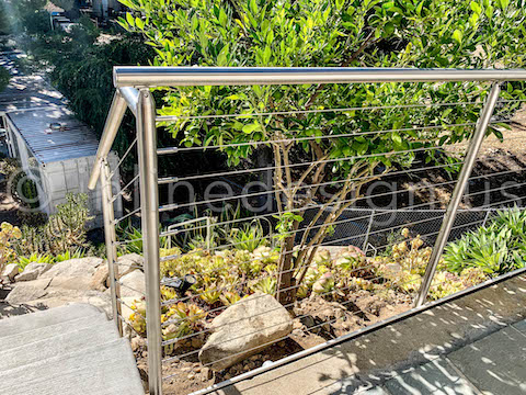 beautiful cable railing round