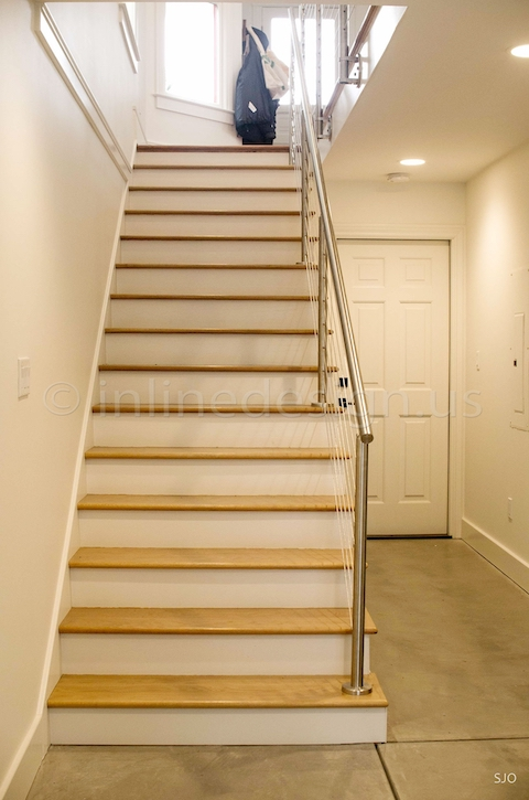 stainless steel cable railing stairs indoor