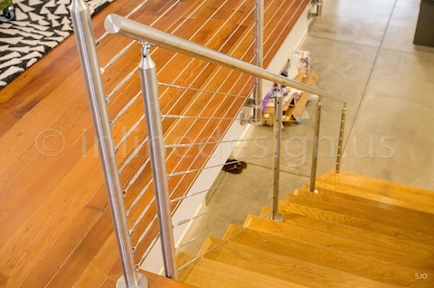 stainless steel railing cable srairs down