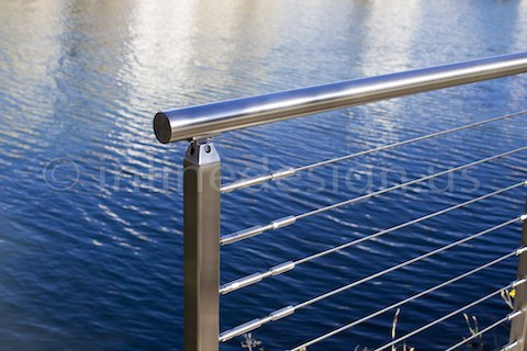 stainless steel cable railing press ltach system residential