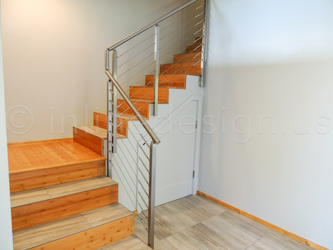 contemporary metal rods handrails