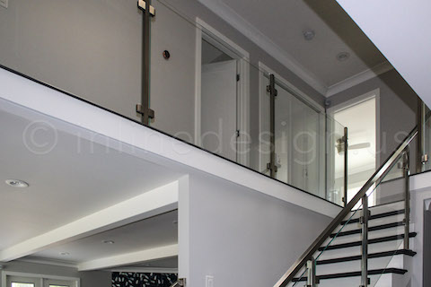 balcony overlooking stairs