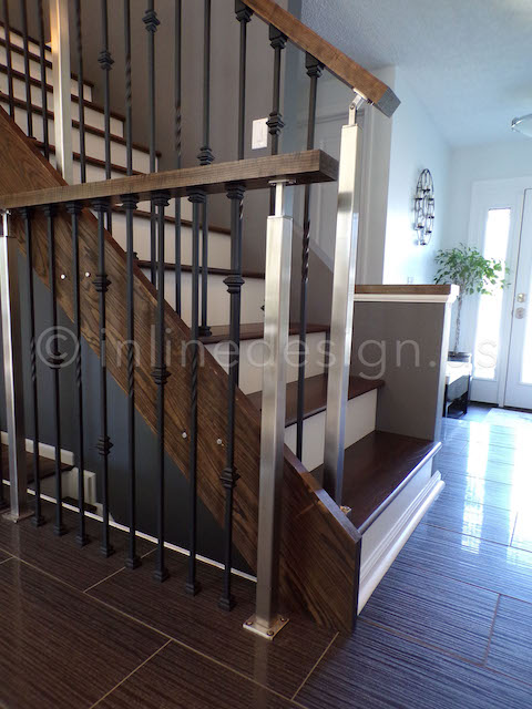 Iron Steel Combination Railing
