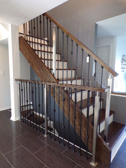 Wood Steel Combination Railing