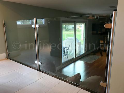 glass railing bbq