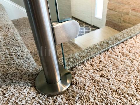 glass railing carpet