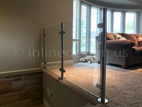 glass railing dog