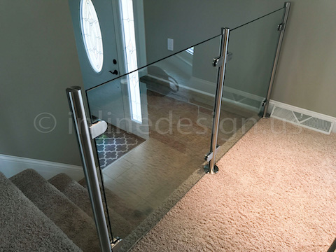 glass railing modern