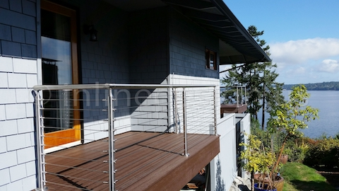 stainless steel cable railing nice view