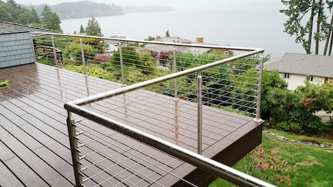 stainless steel cable railing water front