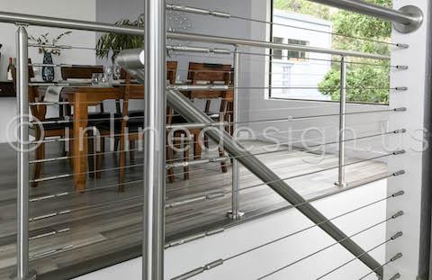 beautiful dining area railing