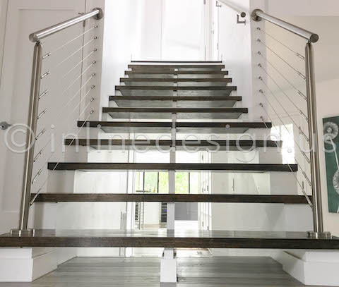 beautiful staircase entry view