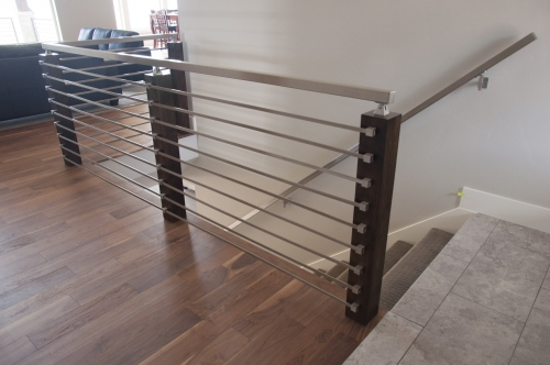 stainless steel bar railing commercial