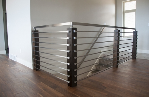 stainless steel bar railing flush