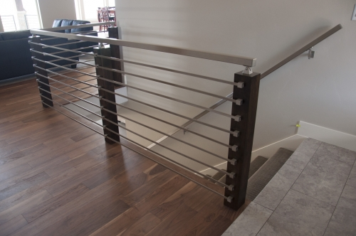stainless steel bar railing glass