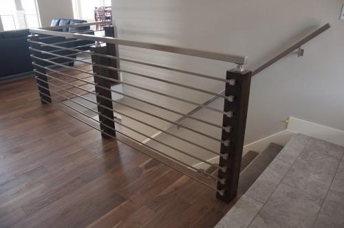 stainless steel bar railing glass