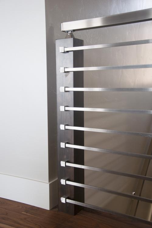 stainless steel bar railing stairway