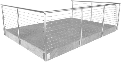 cable railing miami round side mounted 36 in