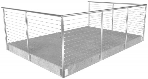 cable railing miami round side mounted 42 in