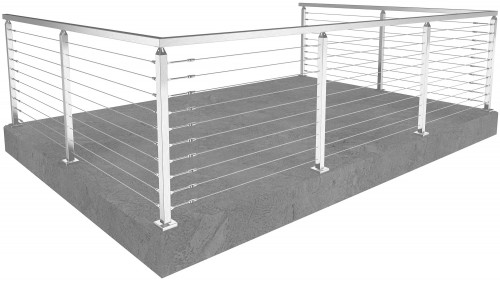 cable railing miami square floor mounted 36 in