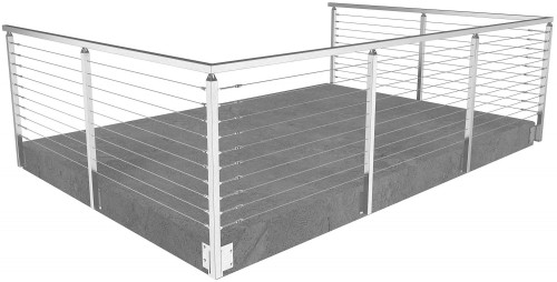 cable railing miami square side mounted 36 in