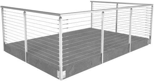 cable railing miami square side mounted 42 in