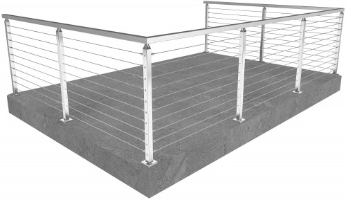 cable railing san francisco square floor mounted 36 in