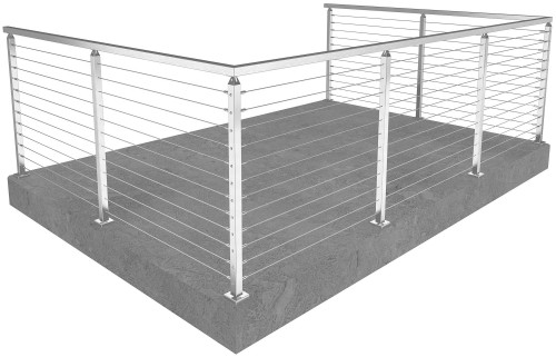 cable railing san francisco square floor mounted 42 in