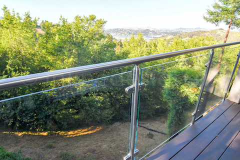 glass railing balcony deck
