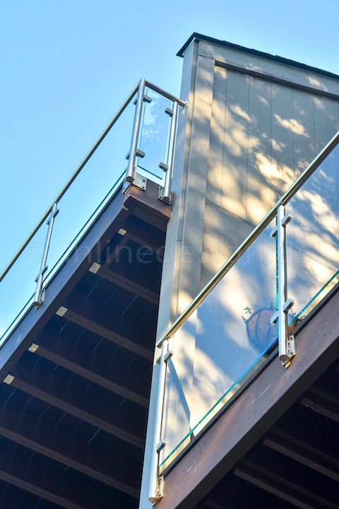 railing glass fascia mount