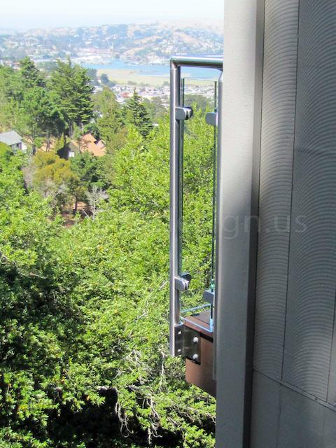 glass railing side mount