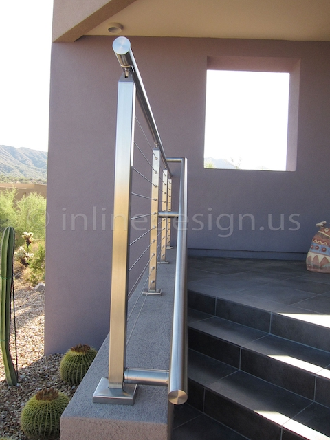stainless steel cable railing square desert