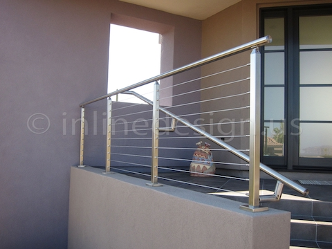 stainless steel cable railing square modern