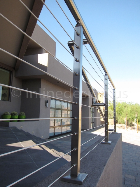 stainless steel cable railing square outdoor