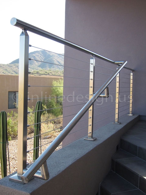 stainless steel cable railing square phoenix