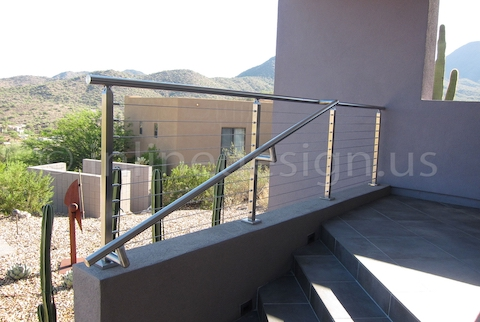 stainless steel cable railing square sunny