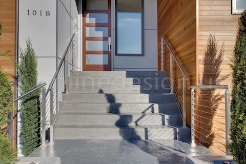 stainless steel cable railing square posts balcony