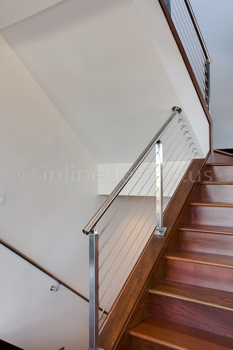 stainless steel cable railing square posts cable bracket