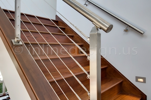 stainless steel cable railing square posts modern cable