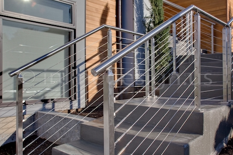 stainless steel cable railing square posts modern