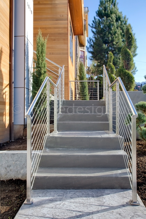 stainless steel cable railing square posts outdoor